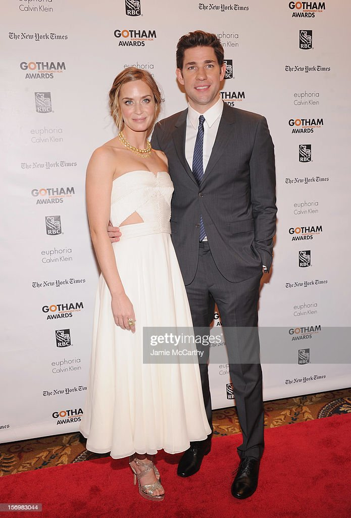 Emily Blunt, and John Krasinski attend the 22nd Annual Gotham Independent Film Awards at Cipriani Wall Street on November 26, 2012 in New York City.