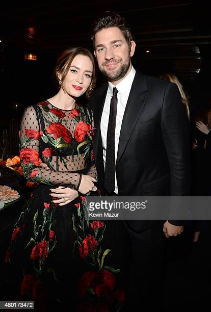 Emily Blunt and John Krasinski attend the after party for the world premiere of 'Into the Woods' at The Edison Ballroom on December 8 2014 in New...