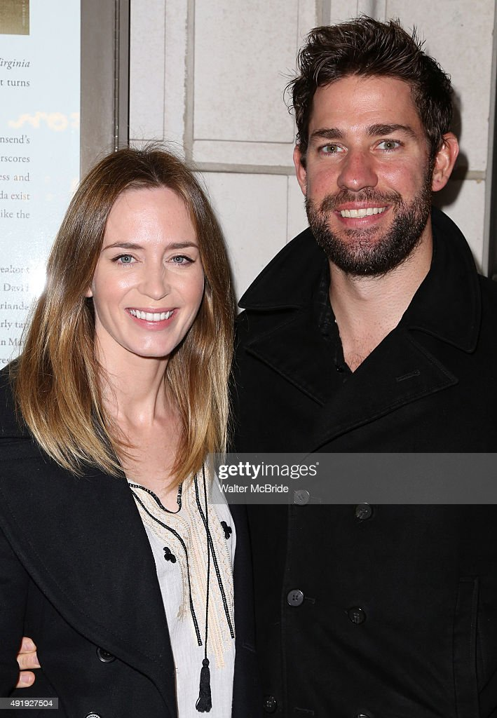 Emily Blunt and John Krasinski attend the Broadway Opening Night performance of 'Fool For Love' at the Samuel J Friedman Theatre on October 8 2015 in...