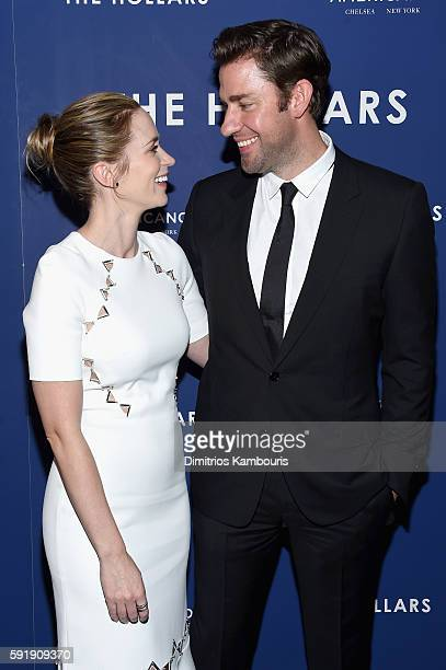 Emily Blunt and John Krasinski attend 'The Hollars' New York Screening at Cinepolis Chelsea on August 18 2016 in New York City