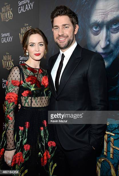 Emily Blunt and John Krasinski attend the world premiere of 'Into the Woods' at the Ziegfeld Theatre on December 8 2014 in New York City The stars...