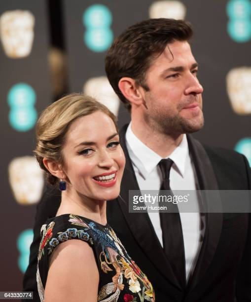 Emily Blunt and John Krasinski attends the 70th EE British Academy Film Awards at Royal Albert Hall on February 12 2017 in London England