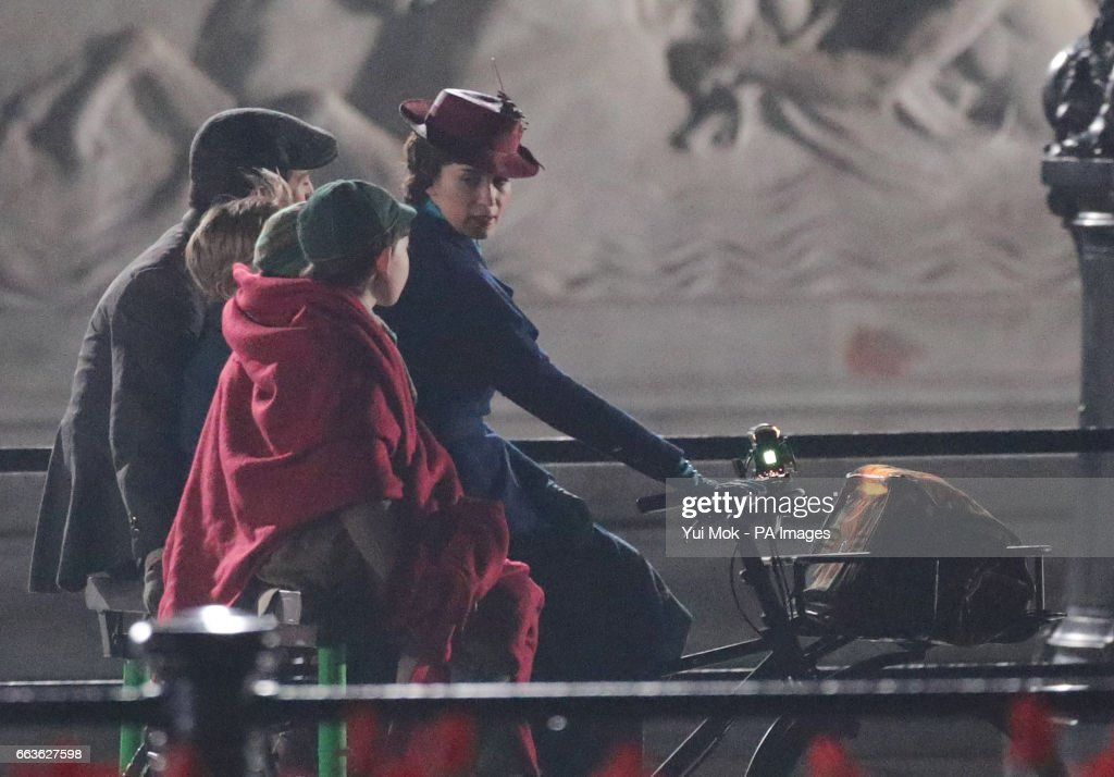 Emily Blunt plays the role of the beloved nanny in the Disney sequel 'Mary Poppins Returns.'