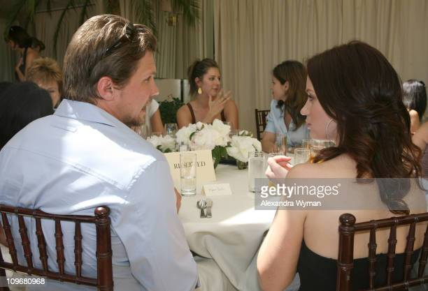 Emily Blunt and Marc Blucas during MaxMara and Women in Film Host Luncheon For Honoree Emily Blunt at Sunset Tower in West Hollywood California...