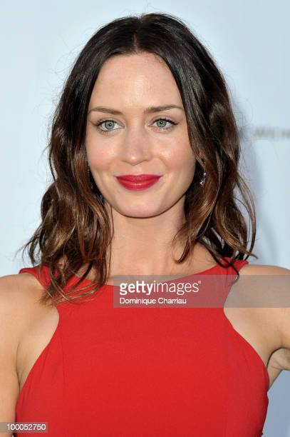 Emily Blunt arrives at amfAR's Cinema Against AIDS 2010 benefit gala at the Hotel du Cap on May 20 2010 in Antibes France