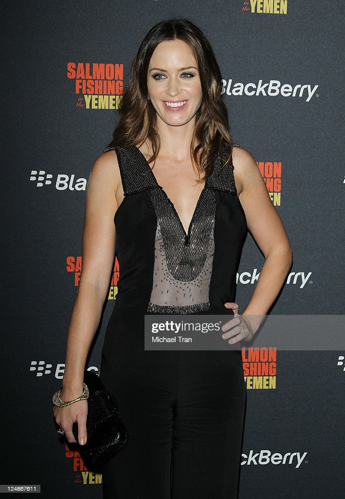 <a gi-track='captionPersonalityLinkClicked' href=/galleries/search?phrase=Emily+Blunt&family=editorial&specificpeople=213480 ng-click='$event.stopPropagation()'>Emily Blunt</a> arrives at the 'Salmon Fishing In The Yemen' afterparty held during the 2011 Toronto International Film Festival held at the BlackBerry Lounge at Brassaii on September 10, 2011 in Toronto, Canada.