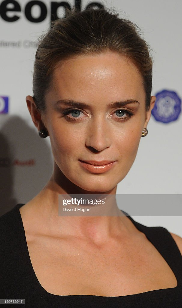 Emily Blunt arrives for the London Film Critics Circle Film Awards at The Mayfair Hotel on January 20, 2013 in London, England.