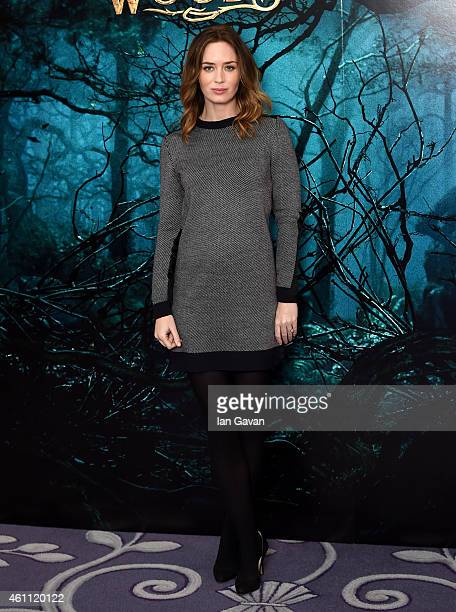 Emily Blunt attends a photocall for 'Into The Woods' at the Corinthia Hotel London on January 7 2015 in London England