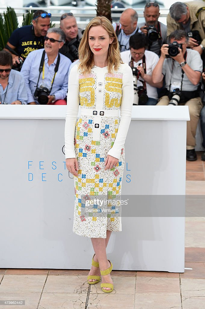 Emily Blunt attends a photocall for 'Sicario' during the 68th annual Cannes Film Festival on May 19 2015 in Cannes France