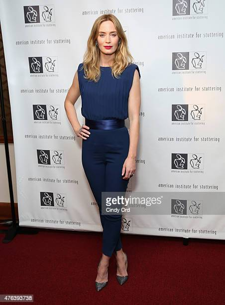 Emily Blunt attends American Institute for Stuttering Freeing Voices Changing Lives Gala on June 8 2015 in New York City