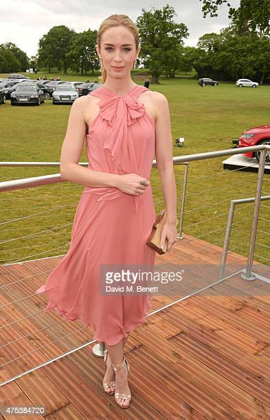 Emily Blunt attends day two of the Audi Polo Challenge at Coworth Park on May 31 2015 in London England