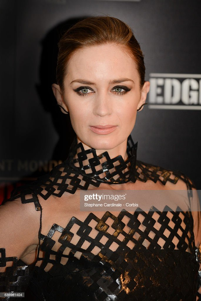 Emily Blunt attends 'Edge Of Tomorrow' Photocall at Cinema UGC Normandie on May 28, 2014 in Paris.