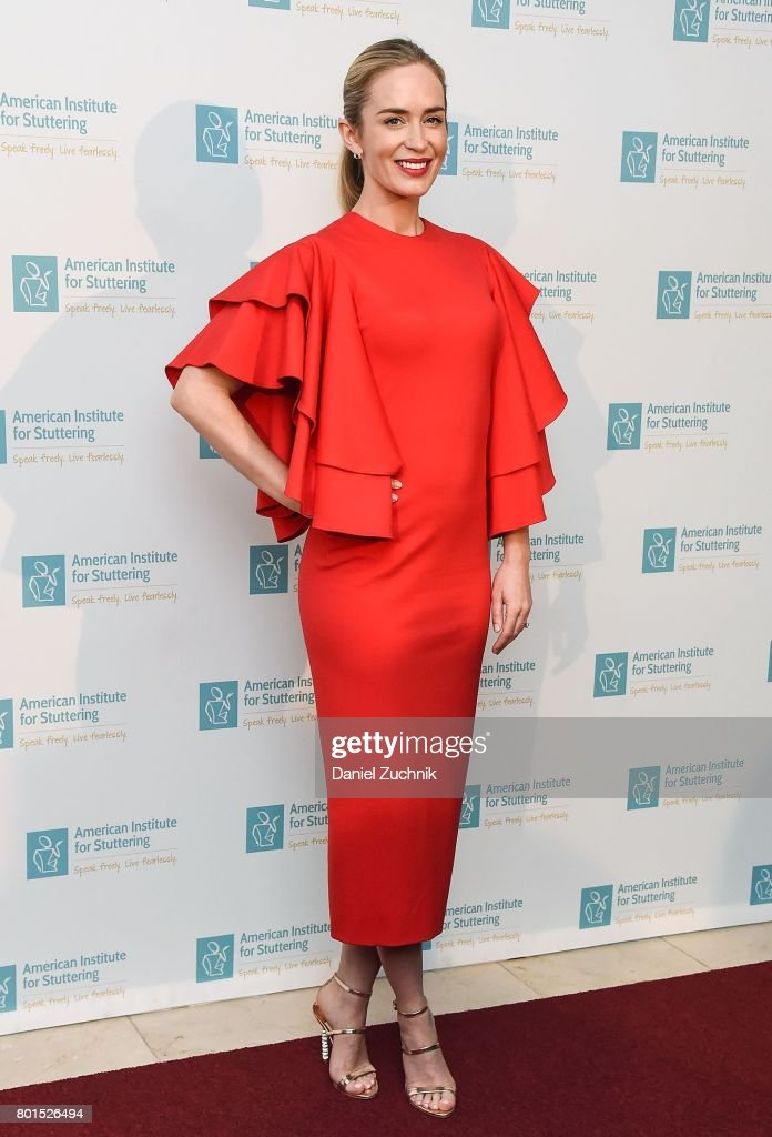 Emily Blunt attends the 11th Annual American Institute for Stuttering Freeing Voices Changing Lives Benefit Gala at Guastavino's on June 26, 2017 in New York City.