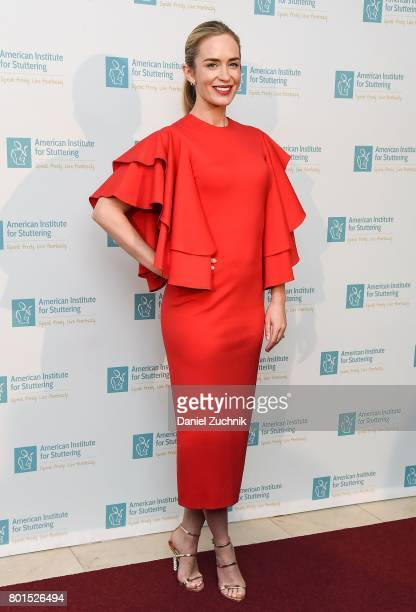 Emily Blunt attends the 11th Annual American Institute for Stuttering Freeing Voices Changing Lives Benefit Gala at Guastavino's on June 26 2017 in...