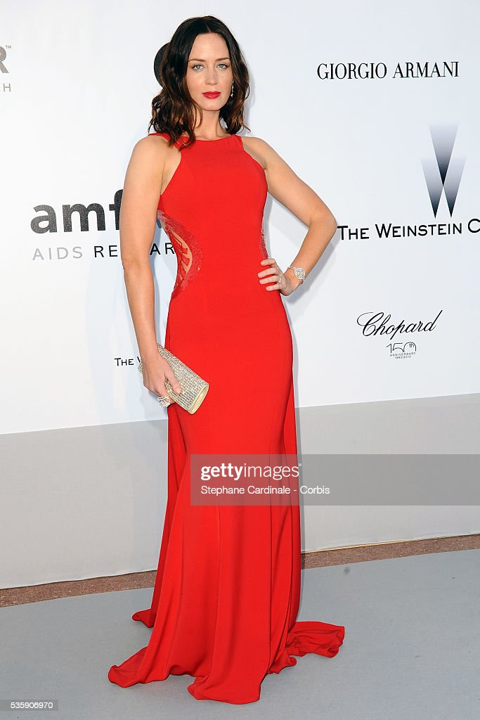 Emily Blunt attends the '2010 amfAR's Cinema Against AIDS' Gala - Arrivals