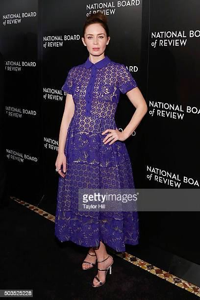 Emily Blunt attends the 2015 National Board of Review Gala at Cipriani 42nd Street on January 5 2016 in New York City