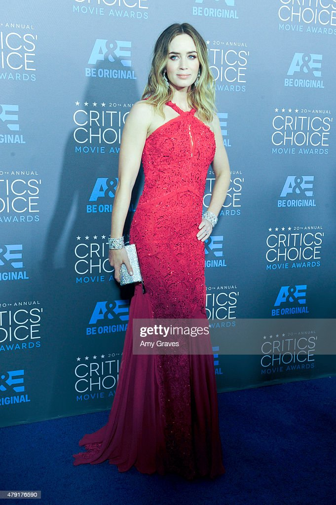 Emily Blunt attends the 20th Annual Critics' Choice Movie Awards on January 15, 2015 in Los Angeles, California.