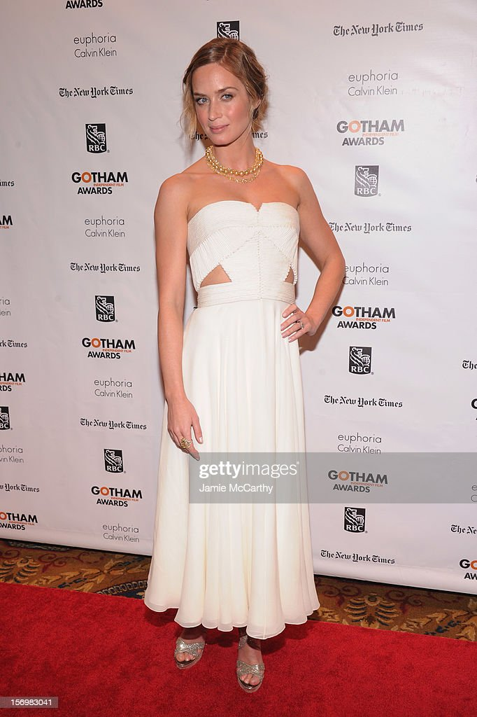 Emily Blunt attends the 22nd Annual Gotham Independent Film Awards at Cipriani Wall Street on November 26, 2012 in New York City.