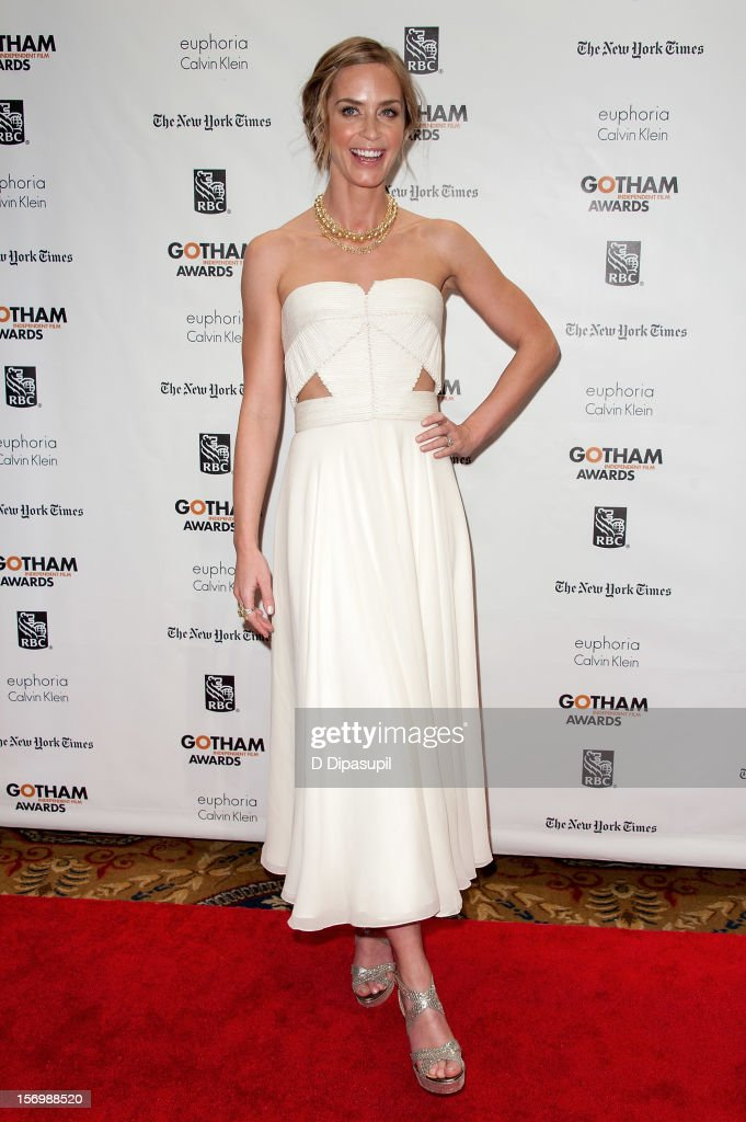<a gi-track='captionPersonalityLinkClicked' href=/galleries/search?phrase=Emily+Blunt&family=editorial&specificpeople=213480 ng-click='$event.stopPropagation()'>Emily Blunt</a> attends the 22nd annual Gotham Independent Film awards at Cipriani, Wall Street on November 26, 2012 in New York City.