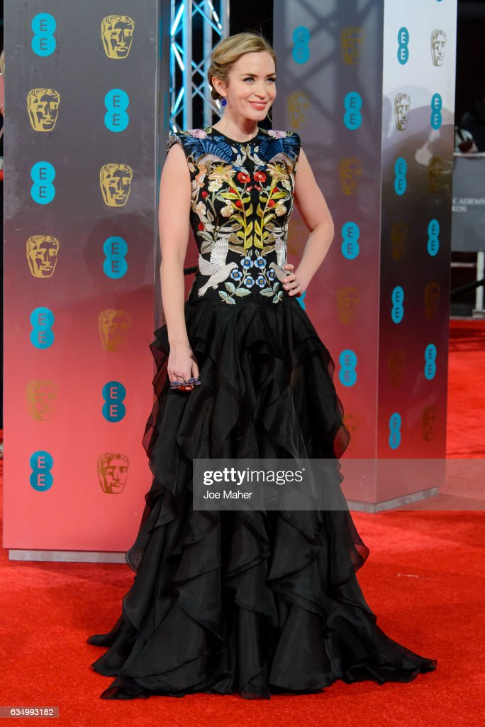 Emily Blunt attends the 70th EE British Academy Film Awards (BAFTA) at Royal Albert Hall on February 12, 2017 in London, England.