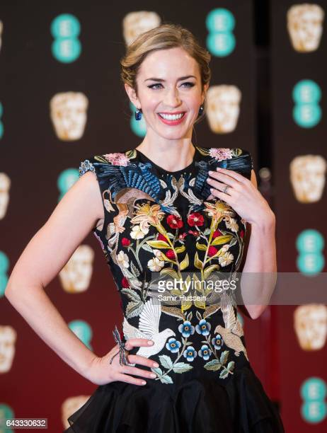 Emily Blunt attends the 70th EE British Academy Film Awards at Royal Albert Hall on February 12 2017 in London England