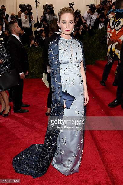 Emily Blunt attends the 'China Through The Looking Glass' Costume Institute Benefit Gala at the Metropolitan Museum of Art on May 4 2015 in New York...