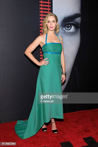 Emily Blunt attends 'The Girl on the Train' New York premiere at Regal EWalk Stadium 13 on October 4 2016 in New York City