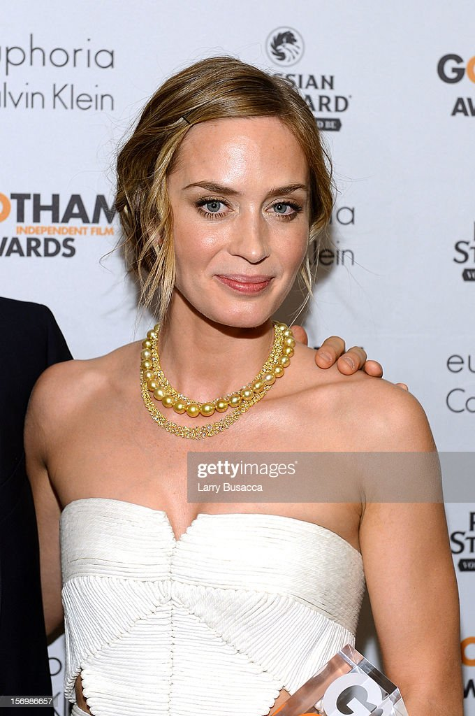 Emily Blunt attends the IFP's 22nd Annual Gotham Independent Film Awards at Cipriani Wall Street on November 26, 2012 in New York City.