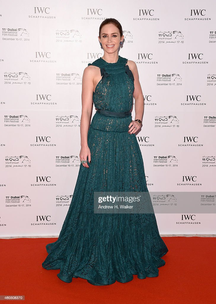 <a gi-track='captionPersonalityLinkClicked' href=/galleries/search?phrase=Emily+Blunt&family=editorial&specificpeople=213480 ng-click='$event.stopPropagation()'>Emily Blunt</a> attends the IWC Filmmakers award during day two of the 11th Annual Dubai International Film Festival held at the Madinat Jumeriah Complex on December 11, 2014 in Dubai, United Arab Emirates.