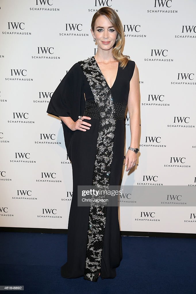 <a gi-track='captionPersonalityLinkClicked' href=/galleries/search?phrase=Emily+Blunt&family=editorial&specificpeople=213480 ng-click='$event.stopPropagation()'>Emily Blunt</a> attends the IWC Gala Dinner during the Salon International de la Haute Horlogerie (SIHH) 2015 at the Palexpo on January 20, 2015 in Geneva, Switzerland.