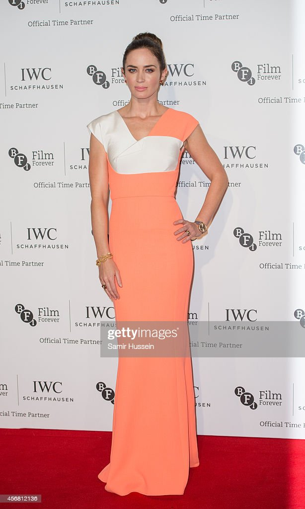 <a gi-track='captionPersonalityLinkClicked' href=/galleries/search?phrase=Emily+Blunt&family=editorial&specificpeople=213480 ng-click='$event.stopPropagation()'>Emily Blunt</a> attends the IWC Gala dinner in honour of the BFI at Battersea Evolution on October 7, 2014 in London, England.