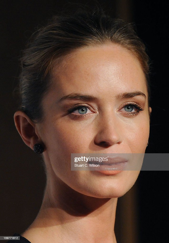 Emily Blunt attends the London Critics' Circle Film Awards at The Mayfair Hotel on January 20, 2013 in London, England.