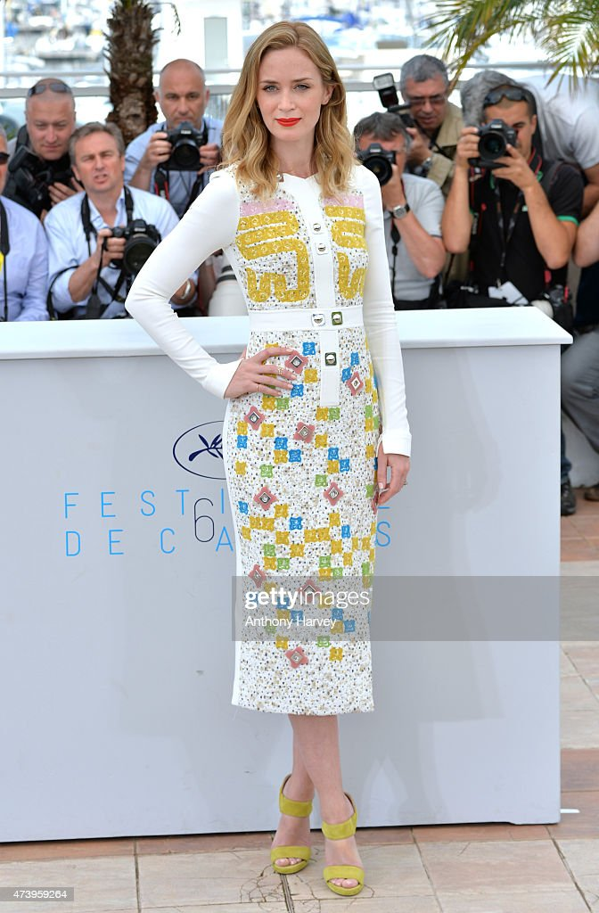Emily Blunt attends the 'Sicario' photocall during the 68th annual Cannes Film Festival on May 19 2015 in Cannes France