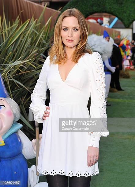 Emily Blunt attends the UK Film Premiere of 'Gnomeo And Juliet' at the Odeon Leicester Square on January 30 2011 in London England