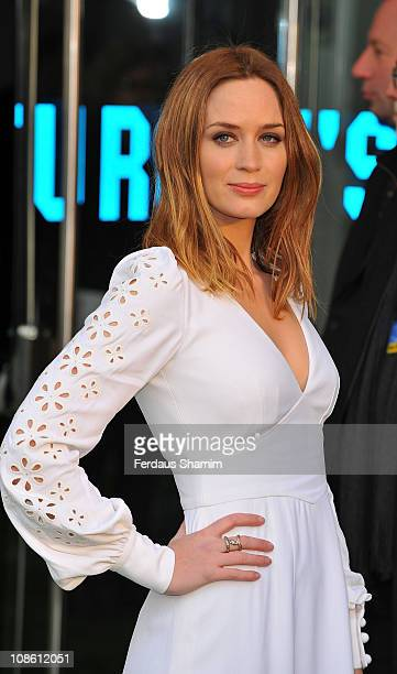 Emily Blunt attends the UK premiere of 'Gnomeo Juliet' at Odeon Leicester Square on January 30 2011 in London England