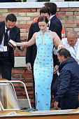 Emily Blunt attends the wedding party for the wedding of George Clooney and Amal Alamuddin on September 27 2014 in Venice Italy George Clooney is set...