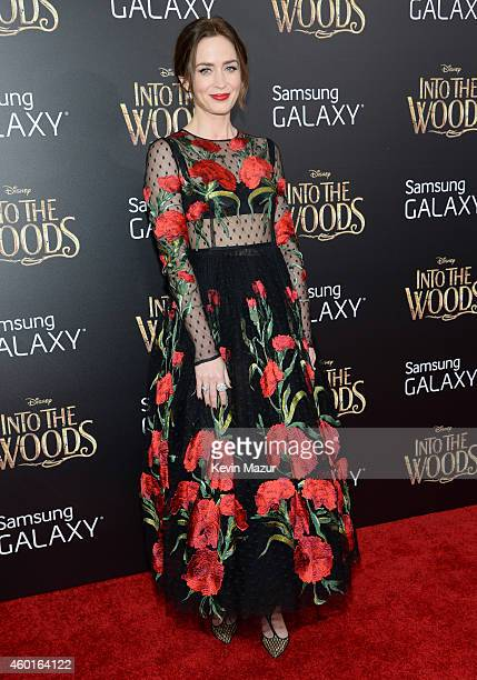 Emily Blunt attends the world premiere of 'Into the Woods' at the Ziegfeld Theatre on December 8 2014 in New York City The stars came out for the...