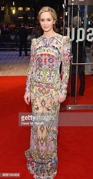 Emily Blunt attends the World Premiere of 'The Girl On The Train at Odeon Leicester Square on September 20 2016 in London England