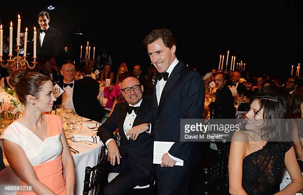 Emily Blunt Giles Deacon Georges Kern Rob Brydon and Eliza Cummings attend the BFI London Film Festival IWC Gala Dinner in honour of the BFI at...