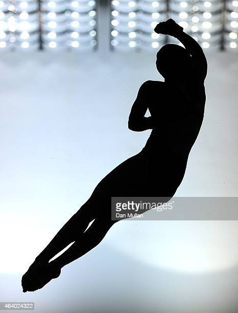 Emily Boyd of Dive London Aquatic Centre competes in the Womens Platform Preliminary during Day Two of the British Gas Diving Championships at the...