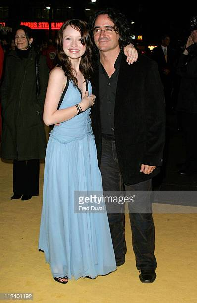Emily Browning and Brad Silberling director during 'Lemony Snicket's A Series Of Unfortunate Events' London Premiere at Empire Leicester Square in...