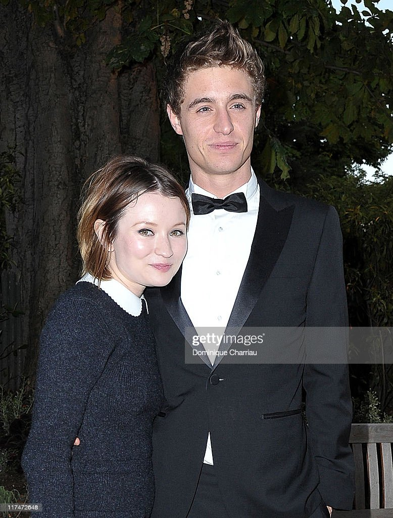 Emily Browning (L) and Max Irons attend the 25th amfAR Inspiration Gala at Pavillon Gabriel on June 23, 2011 in Paris, France.
