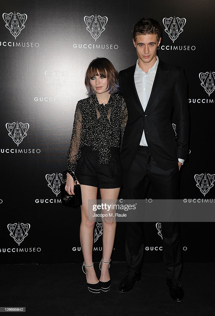 Emily Browning and Max Irons attend the Gucci Museum opening on September 26, 2011 in Florence, Italy.