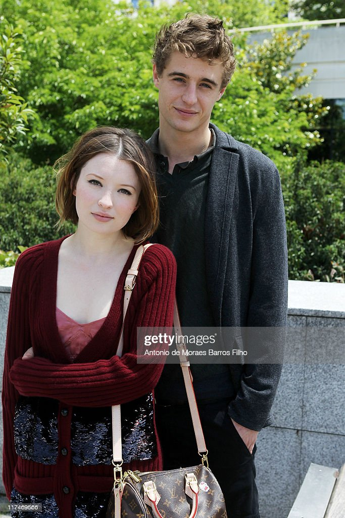 Emily Browning and Max Irons attend the Louis Vuitton Menswear Spring/Summer 2012 show as part of Paris Fashion Week at Parc Andre Citroen on June 23, 2011 in Paris, France.