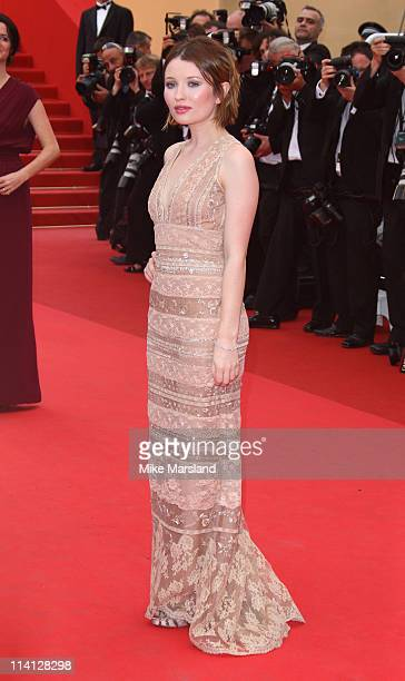 Emily Browning arrives at the 'Sleeping Beauty' Premiere part of the 64th Cannes Film Festival at Palais des Festivals on May 12 2011 in Cannes France