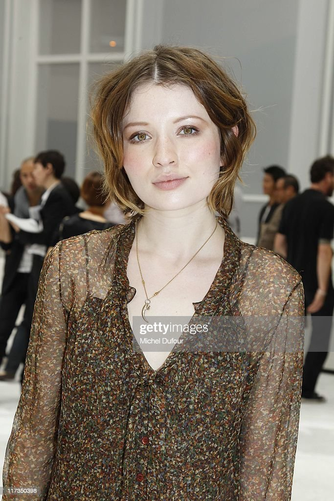 Emily Browning attends the Dior Homme Menswear Spring/Summer 2012 show as part of Paris Fashion Week at on June 25, 2011 in Paris, France.