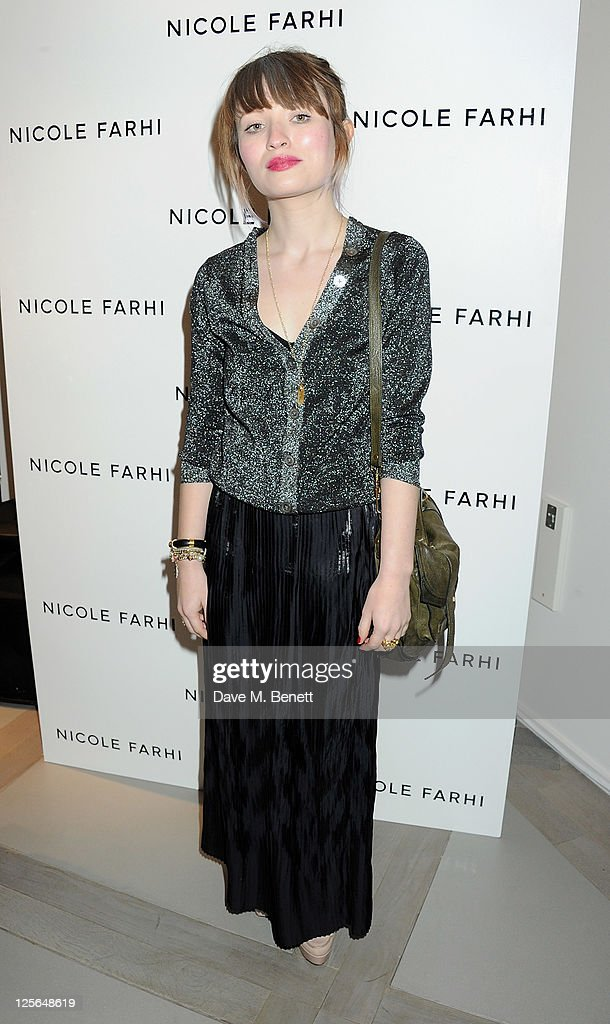 Emily Browning attends the opening of the Nicole Farhi global flagship store on September 19, 2011 in London, England.