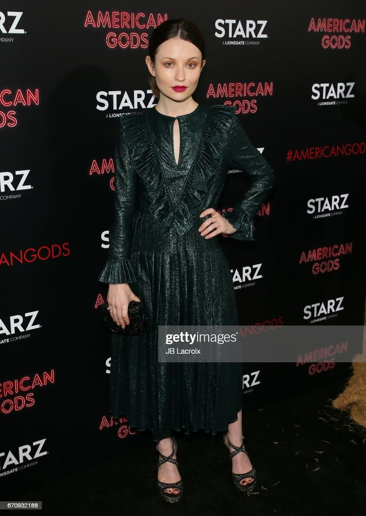 Emily Browning attends the premiere Of Starz's 'American Gods' on April 20, 2017 in Hollywood, California.