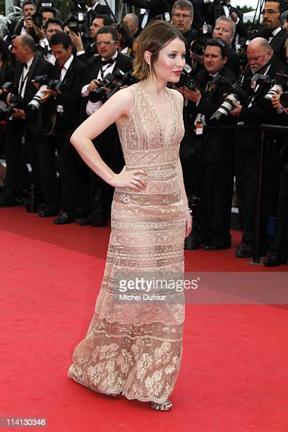 Emily Browning attends the 'Sleeping Beauty' premiere during the 64th Annual Cannes Film Festival at Palais des Festivals on May 12 2011 in Cannes...