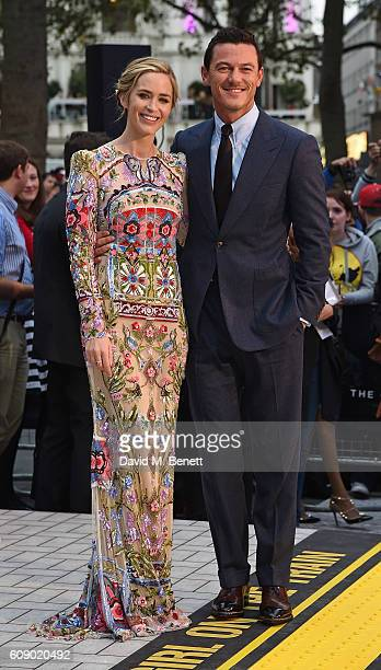 Emily Bunt and Luke Evans attend the World Premiere of 'The Girl On The Train' at Odeon Leicester Square on September 20 2016 in London England
